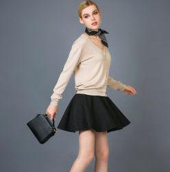 Lady's Fashion Cashmere & Mélanges de soie chandail Cardigan