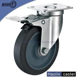 6-дюймовый TPR резиновые поверните колесо самоустанавливающегося колеса с тормозом для тележек