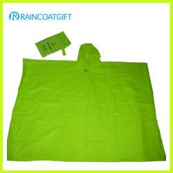 Imperméable Poncho de pluie en PVC Vinyl de phoques à capuchon (TVR-092)