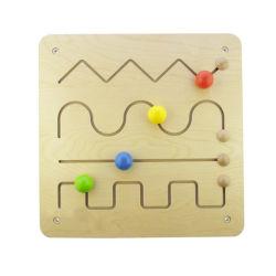 خشبيّة متاهة لغة مزح لعبة يثبت لأنّ 2 سنون فوق مع لون تربويّ يعلم يقود خرزة [بوأرد غم] لأنّ روضة الأطفال أطفال [ببي بوي] بنات يعلم