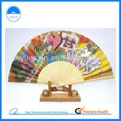 Manuel de l'artisanat de la Chine de gros de ventilateur de bambou