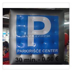 Un parking en forme de cubes de 3m utilisent la publicité hélium ballon gonflable