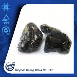 Frittes de verre noir pour la décoration de la rivière