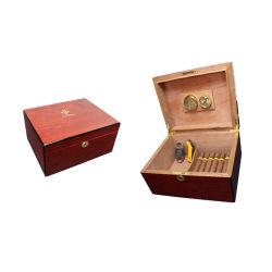 Запираемый экспортный Cedar Wood Cigar Humidor с увлажнителем