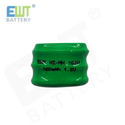 Piles bouton 160mAh NiMH 1,2V batterie rechargeable pour cadeaux électronique