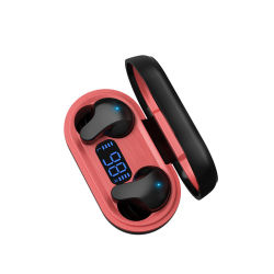 True Wireless 이어버드 HD 통화 LED 디지털 디스플레이 블루투스 이어폰 소음 감소 헤드폰(&H