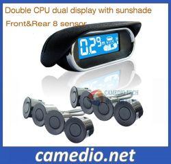 Capteurs de stationnement LCD voiture Smart Système d'aide de recul avec 8 capteurs avant et arrière
