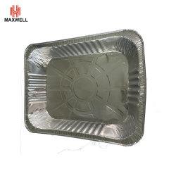 Lámina de aluminio desechable bandeja para hornear pan, pan, contenedor de almacenamiento de alimentos establecidos