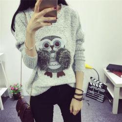 Vestiti di lavoro a maglia del maglione del ricamo delle signore