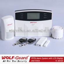 PSTN Home Wireless Alarm mit LCD Display und Voice (YL-007ZX)