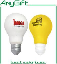 カスタマイズされたロゴのPUの電球の圧力のおもちゃ