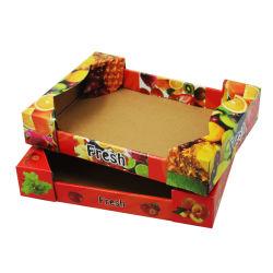 カスタムロゴがリサイクルされたAbをBC印刷した中国製造業者はフルート5執ように勧める段ボールペーパーLitchiのフルーツのギフトの包装のカートンボックス皿にである