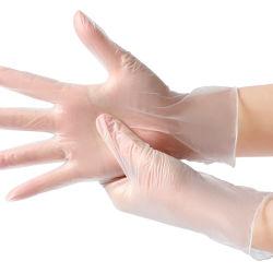 Pour l'hôpital de l'équipement médical en nitrile en vinyle noir en plastique PVC part des fournisseurs des gants jetables