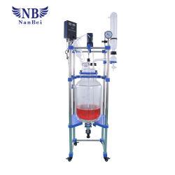 Réacteur chimique de laboratoire chemisé de verre avec la CE