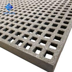 Mini griglia modellata FRP della maglia 13*13, vetroresina che gratta per il bacino galleggiante/costruzione/passaggio pedonale/piattaforma