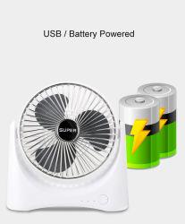 Heißer Swlling Sommer USB-Batterie-Grad-Einstellungs-Schreibtisch-Tisch-Miniventilator