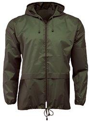 La luz de la ducha de lluvia Unisex impermeable chaqueta ligera