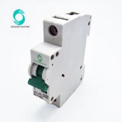 Использование солнечной энергии системы 1p 1-63A 1 полюс DC MCB прерывателей цепи переключателя для фотоэлектрических систем