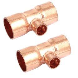 Toma de la soldadura de cobre de alta calidad accesorios de tubería de refrigeración la reducción de la t con el mejor precio