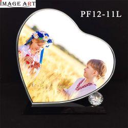 3D-технология термосублимации красителей в форме сердечка пустым Crystal фото в качестве свадебного подарка