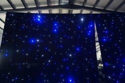La tenda della stella di cerimonia nuziale LED con a prova di fuoco materiale del velluto nero copre