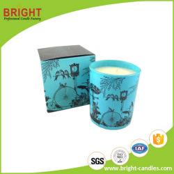 カスタマイズされた絵の具箱が付いている卸し売りガラス瓶の蝋燭