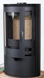 大きい窓の円筒形木製のストーブ大きいロット暖炉木製のペレト ストーブのモダンな暖炉の暖炉の店