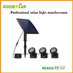 Pi68 à prova de Luz Solar Subaquático, conjunto de manchas solares 3 LED para exterior, Solar Exterior Lâmpada para debaixo de água