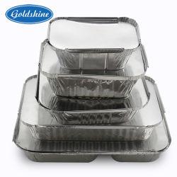 Résistant en aluminium rectangulaire avec couvercle de récipient alimentaire Conseil