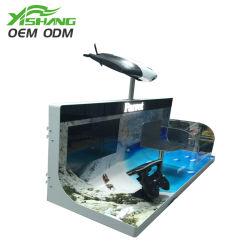 Kundenspezifischer einzelner seitlicher Bildschirmanzeige-Metallelektronik-Ausstellungsstand-Fall