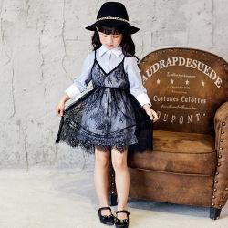 Outono Nova Correia Condole vestir a camisa de manga longa Lace calça duas meninas vestido. As crianças a desgaste. Girl roupas. Vestuário de crianças.
