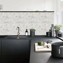 Высокое качество популярных кухней оформлены кафелем Crystal газа стеклянной мозаики