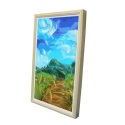 23,8inch Digital Signage LCD-Bildschirm mit Holzrahmen und CMS-Anwendung, weit verbreitet für Kunstgalerie, Museum, Restaurant verwendet
