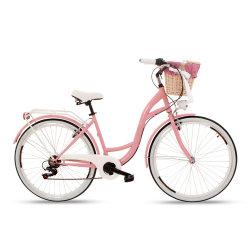 Goedkope Mode Urban Bicystar fiets Single Speed City Bike 7 Snelheid met mandje voor dames/vrouwen/volwassenen