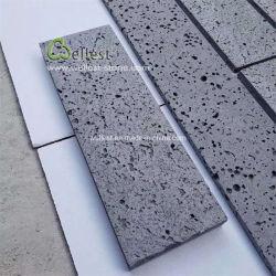 تجانب أسود من الحجر البازلت اللافا للأرضيات الخارجية ولينغ