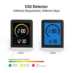 실내 공기 품질 모니터 CO2 온도 습도 CO2 이산화탄소 Pm2.5 미터 검출기