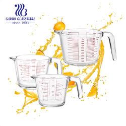 350 مل 500 مل أدوات المطبخ سعة 1 لتر ونصف لتر الأدوات المنزلية قياس الزجاج الرخيص إبريق زجاجي مع مقبض