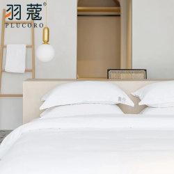 2020 novo Livro Branco 100 Algodão Sateen 300TC para 3/4/5 Estrelas lençóis de linho