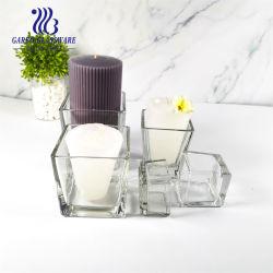 2 Polegada máquina feita de vidro transparente suporte para velas (GB2248-5)