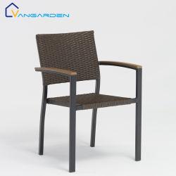 椅子を食事する最もよい販売の現代レストランの屋外の家具の金属のアルミニウム多柳細工の藤