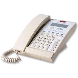 전문적인 호텔 리셉션, 발신자 ID 표시 기능이 있는 디지털 전화기