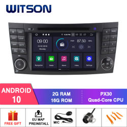 Witson Android 10 DVD плеер для транспортирования автомобиль видео мультимедийной системы GPS