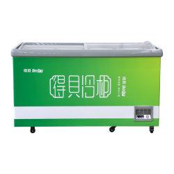 市販用ガラススライドドアアイスクリーム、冷凍食品貯蔵アイランドチェストディープディスプレイフリーザーキャビネット、 400~500L 、 SD/SC-4489 用