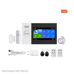 Kit DIY 433 MHz Wireless Tuya Home Alarm Kit GSM SMS Sistema compatibile con Smartlife