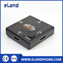 3 Porta 3X1 Interruptor de comutador HDMI V1.4 suportar 1080P HD de 4K, Leitor de DVD com controlo remoto de infravermelhos