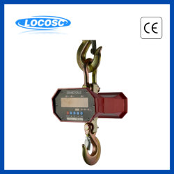 3ton 5ton 10tonはLCD表示の鋼鉄ホックの電子重量を量るOcsクレーンスケールをカスタマイズした