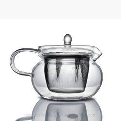 Tetera de cristal transparente con tapa de cristal Infuser