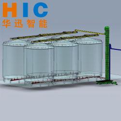 Transportador de cadena de arrastre y elevador de cucharón para entrada/salida de silo de acero/Sistema Backwarding