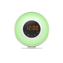 Nieuwe LED-zonlichtsensor Radio digitale Wake up Light Sunrise Wekker