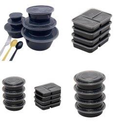 台所用品の持ち帰りランチボックスカップフードパッケージ 3 コンパートメント 生分解性 BPA フリーサラダマイクロ波ストレージテーブルウェアプラスチック PP ディスポーザブル 食品容器